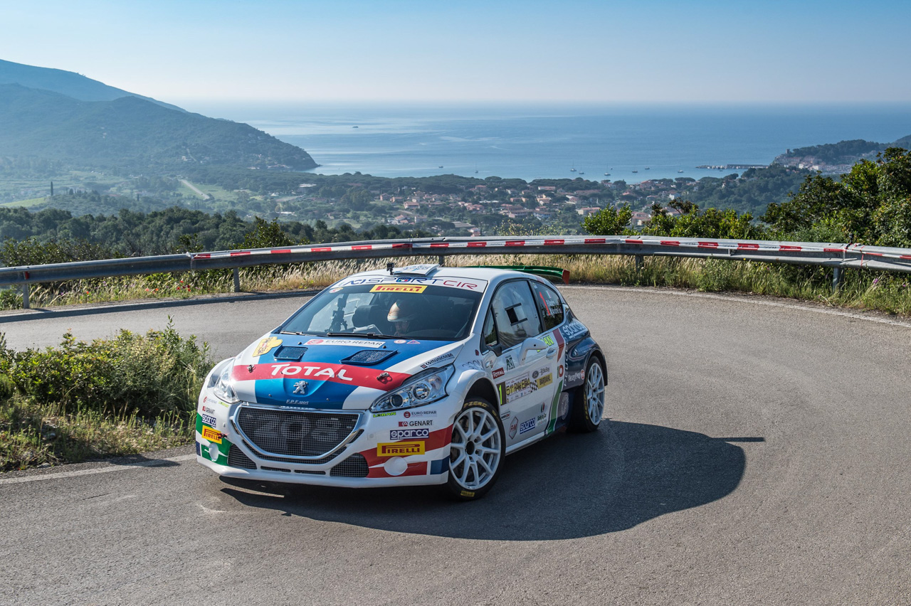 Andreucci-Andreussi (Peugeot) in trionfo  al Rallye Elba - Trofeo Ford BluBay - Bardahl